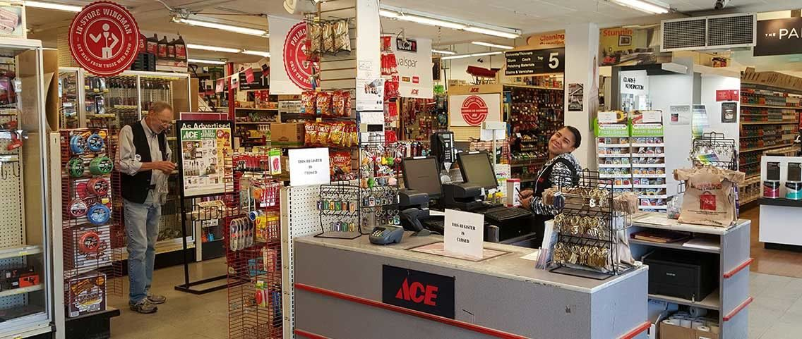 Employees of Village Ace in store